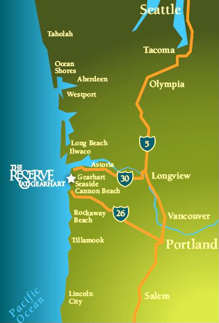 Reserve at Gearhart Location Map